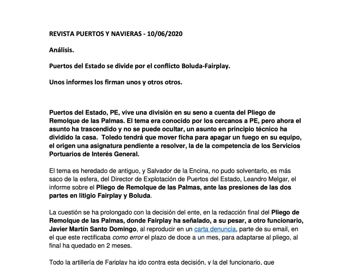 REVISTA PUERTOS Y NAVIERAS