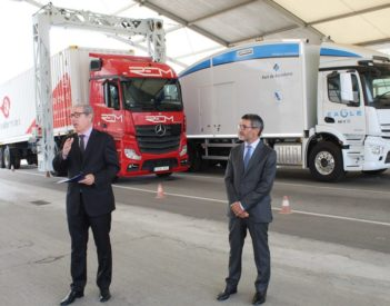 El puerto Barcelona dispone del único escáner para contenedores del sistema portuario, capaz de inspeccionar en remoto