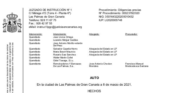 Choclán pierde la denuncia contra los funcionarios del puerto de Las Palmas
