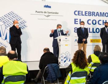 """Revilla compromete """"sí o sí"""" La Pasiega en la celebración del coche 8 millones del Puerto de Santander"""