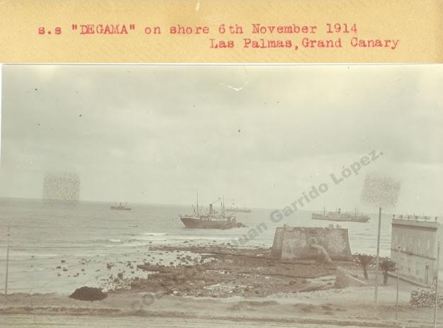 """El vapor británico """"Degama"""", perdido en el Puerto de La Luz"""