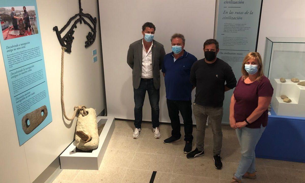Donan al museo de la navegación el ancla de más de 20 siglos  localizada en Baiona